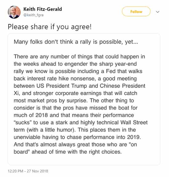 Keith Tweets About A Rally